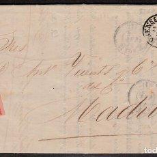 Sellos: CARTA ENTERA PARIS BORRAS Y CIA DE ORENSE (1864) -2 CIRCULARES-RUEDA DE CARRETA Y FECHADOR. Lote 194405905