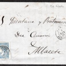 Sellos: CARTA ENTERA CON NUM. 75A RODA (1865) A ALBACETE . Lote 99226727