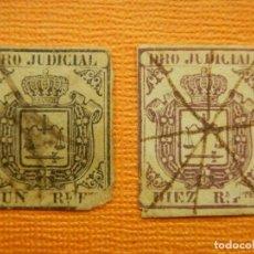 Sellos: SELLO - ESPAÑA - FISCALES - DERECHO JUDICIAL - UN REAL Y 10 REALES -. Lote 100745619