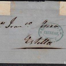 Sellos: ENVUELTA CON NUM. 81 CARTERÍA DE OLITE -NAVARRA- (RRR-). Lote 101201039