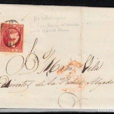 Sellos: CARTA ENTERA CON SELLO NUM 17 DE CASTELLÓN DESTINO REUS -1853-. Lote 102451175