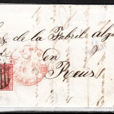 Sellos: CARTA ENTERA CON SELLO NUM 24 DE VALENCIA A REUS -1854- BAEZA ENCIMA DEL SELLO. Lote 102530551