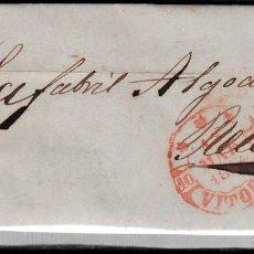 Sellos: CARTA ENTERA CON SELLO NUM 24 DE VITORIA DESTINO REUS 1854 MATASELLOS PARRILLA Y BAEZA. Lote 102532447