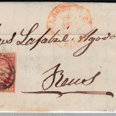 Sellos: CARTA ENTERA CON SELLO NUM 17 DE JULIANA LACALLE EN LOGROÑO -1853 MATASELLOS PARRILLA Y BAEZA. Lote 102538879