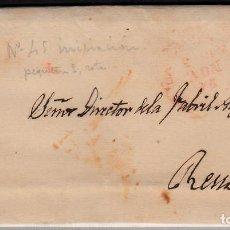 Sellos: CARTA ENTERA CON SELLO NUM 17 DE JUAN M. MARTINEZ EN SANTANDER -1853- . Lote 102540827