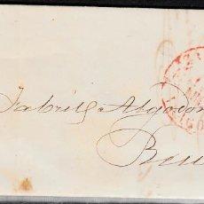 Sellos: CARTA ENTERA CON SELLO NUM 17 DE ZARAGOZA A REUS -1853 MATASELLOS PARRILLA Y BAEZA. Lote 102612971