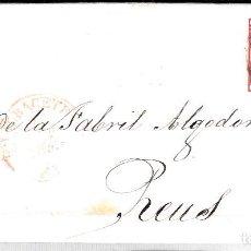 Sellos: CARTA ENTERA CON SELLO NUM 17 DE ALBACETE A REUS -1853 MATASELLOS PARRILLA Y BAEZA. Lote 102616335