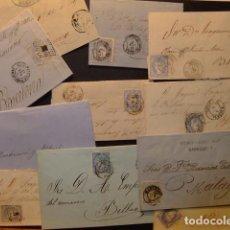 Sellos: ESPAÑA ESPAGNE 1865/1870 LOT DE 11 PIÈCES 4 CUARTOS Y 50 MILLIÈMES.. Lote 102648347