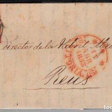 Sellos: CARTA ENTERA CON SELLO NUM 17 DE SEBASTIAN HERRERO EN VITORIA -1853 MATASELLOS PARRILLA Y BAEZA. Lote 102687715