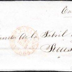 Sellos: CARTA ENTERA CON SELLO NUM 17 DE LUIS CADEMA EN TAFALLA -1853 MATASELLOS PARRILLA Y BAEZA. Lote 102690527
