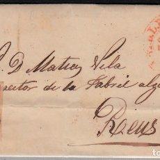 Sellos: CARTA ENTERA CON SELLO NUM 24 (BORDE HOJA) DE FELIPE Y FRCO CARRERAS EN CASTELLÓN 1854 . Lote 102692751