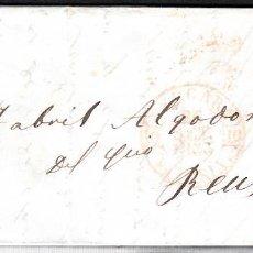 Sellos: CARTA ENTERA CON SELLO NUM 17 DE J. CUADRADO EN VERGARA --1853--. Lote 102812335
