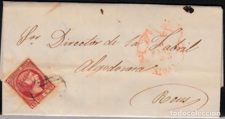CARTA ENTERA CON SELLO NUM 17 DE JOSE CODINA EN HARO-LA RIOJA - 853 (Sellos - España - Isabel II de 1.850 a 1.869 - Cartas)