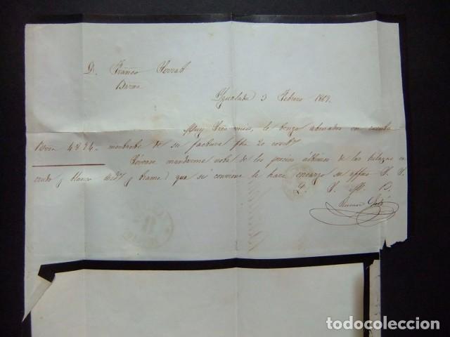 Sellos: ESPAÑA ESPAGNE carta circulada 3/2/1869 de Igualada a Barcelona Edifil n 98 - Foto 2 - 102955527