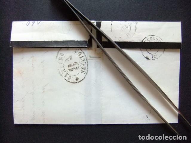 Sellos: ESPAÑA ESPAGNE carta circulada 3/2/1869 de Igualada a Barcelona Edifil n 98 - Foto 3 - 102955527