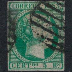 Timbres: SPAIN. ISABEL II (5 REALES VERDE 1853). EDIFIL 20. USADO.. Lote 102969071