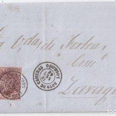 Sellos: CARTA ENTERA DE SOTO DE CAMEROS. RIOJA. 1863. FECHADOR DE LUJO. 4 CUARTOS. Lote 103131447
