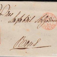Sellos: CARTA COMPLETA CON SELLO NUM. 12 DE JOAQUIN FERRER EN IGUALADA 1832- MATASELLOS PARRILLA Y BAEZA. Lote 103240475
