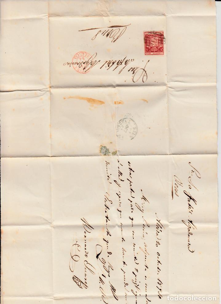 Sellos: CARTA COMPLETA CON SELLO NUM. 12 DE JOAQUIN FERRER EN IGUALADA 1832- MATASELLOS PARRILLA Y BAEZA - Foto 2 - 103240475