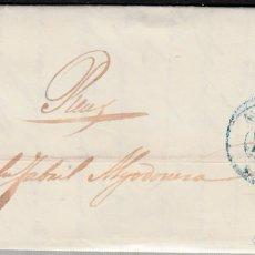 Sellos: CARTA CON NUM. 48 DE JOSE M ORSI EN ALICANTE -1857- FECHADOR ----AZUL---- VER PRECINTO DORSO CARTA. Lote 103343463