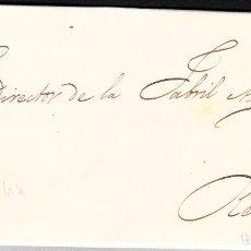 Sellos: CARTA CON SELLO NUM. 44 DE VDA DE M. EGOZEUE EN BVARCELONA -1856- ---FECHADOR AZUL---. Lote 103637219