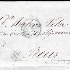 Sellos: CARTA CON SELLO NUM. 44 DE PEDRO MONET EN MADRID --1856--PARRILLA NEGRA Y FECHADOR AZUL. Lote 103637975