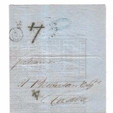 Sellos: CARTA DE RIO DE JANEIRO A CADIZ. CON REVISTA DE MERCADO. VER. 1859. Lote 104030079