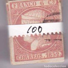 Sellos: STCJ- CLÁSICOS ISABEL EDIFIL 12. PASTILLA 100 SELLOS USADOS + 400 EUROS. Lote 104288931