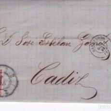 Sellos: F23-10-CARTA COMPLETA BARCELONA -CÁDIZ 1863. INCLUYE HOJA DE PRECIOS AL POR MAYOR. Lote 106005763