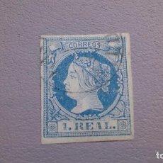Sellos: 1860 - 1861 - ISABEL II - EDIFIL 55 - BUENOS MARGENES - BONITO.. Lote 106943275