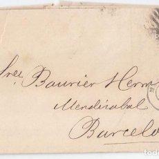 Sellos: CARTA DE MADRID A BARCELONA. PARRILLA CON CIFRA. 1868.. Lote 107787799