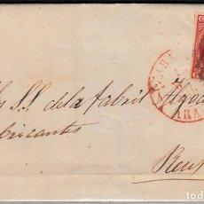 Sellos: CARTA COMPLETA CON SELLO NUM 17 DE BARTOLOME ARROYO EN ZARAGOZA -1853 FECHADOR ENCIMA DEL SELLO. Lote 108112707