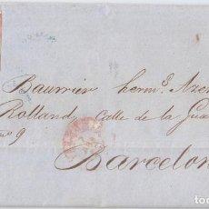 Sellos: CARTA ENTERA DE VALENCIA A BARCELONA. 1856. 4 CUARTOS ROJO.. Lote 108386315