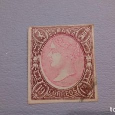 Sellos: 1865 - ISABEL II - EDIFIL 71 - F - SELLO CLAVE - SIN DENTAR.. Lote 108743059