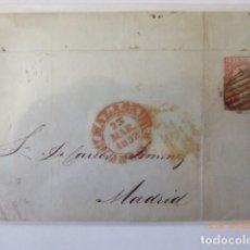 Sellos: CARTA ENVUELTA FRANQUEO 6 C, 1852, Nº EDIFIL 12, ADUANA DE MADRID A MALAGA, 23 MARZO 1852,. Lote 109141607