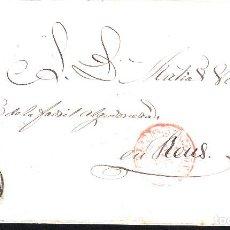 Sellos: CARTA COMPLETA CON SELLO NUM 17 DE BARCELONA A REUS -ÚLTIMO DIA USO DEL MATASELLOS 31-12-1853. Lote 109196619