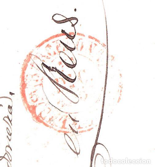 Sellos: CARTA COMPLETA CON SELLO NUM 17 DE BARCELONA A REUS -ÚLTIMO DIA USO DEL MATASELLOS 31-12-1853 - Foto 2 - 109196619