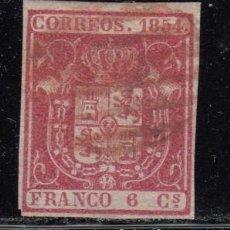 Sellos: ESPAÑA , 1854 EDIFIL Nº 24 , PARRILLA ROJA , . Lote 109471859