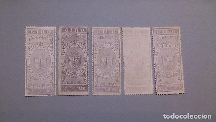ISABEL II - 5 SELLOS DE GIRO - NUEVOS. (Sellos - España - Isabel II de 1.850 a 1.869 - Nuevos)