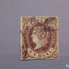 Sellos: 1862 - ISABEL II - EDIFIL 61 - BONITO - COLOR CONSERVADO.. Lote 111039043