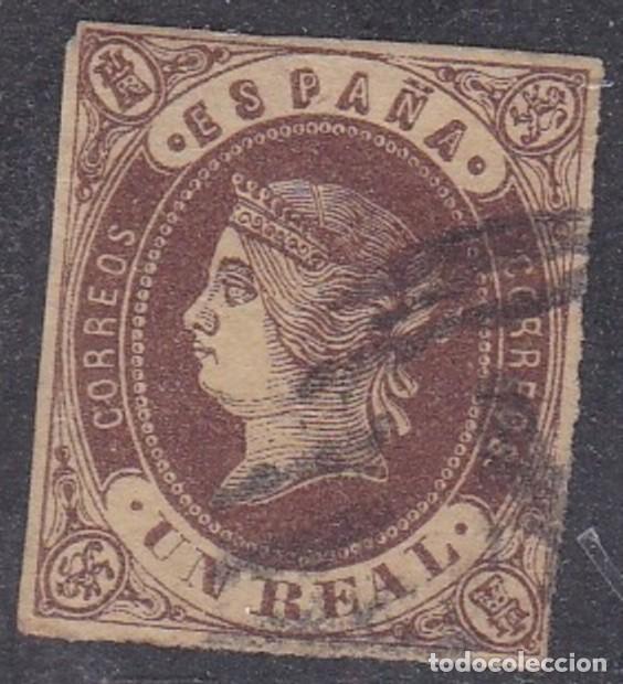 Nº 61 UN REAL MATASELLADO. (Sellos - España - Isabel II de 1.850 a 1.869 - Usados)