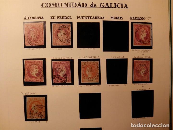 GALICIA ESTUDIO 4 CUARTOS ROJO/NARANJA - LOTE DE 8 SELLOS TAL FOTO (Sellos - España - Isabel II de 1.850 a 1.869 - Usados)
