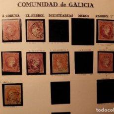 Sellos: GALICIA ESTUDIO 4 CUARTOS ROJO/NARANJA - LOTE DE 8 SELLOS TAL FOTO. Lote 111421679