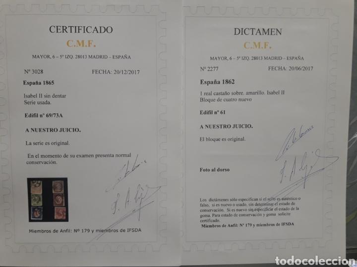 Sellos: ISABEL II Coleccion Completa 1862-65: FILATELIA CALIDAD. SELLOS CLASICOS ESPANA. OFERTA -50% - Foto 7 - 112144258