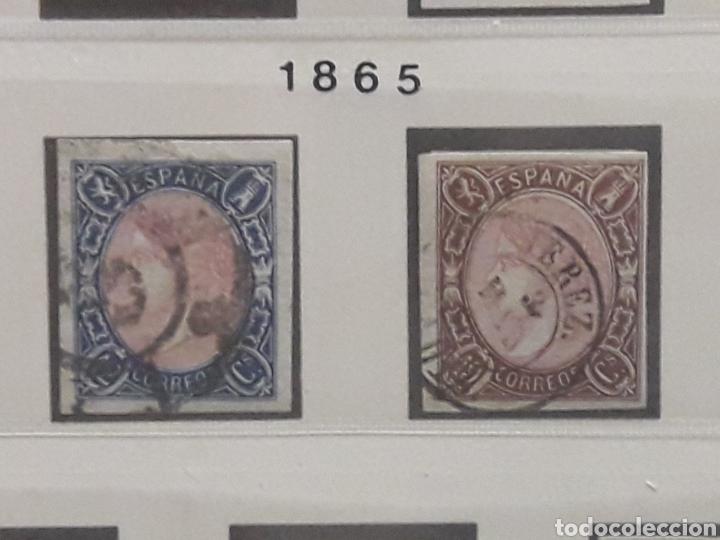Sellos: ISABEL II Coleccion Completa 1862-65: FILATELIA CALIDAD. SELLOS CLASICOS ESPANA. OFERTA -50% - Foto 9 - 112144258