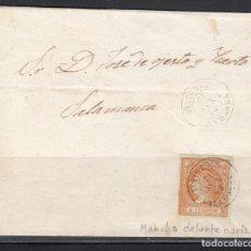 Sellos: ESPAÑA , 1860 4 CUARTOS. VITIGUDINO A SALAMANCA , MATASELLOS FECHADOR VITIGUDINO , . Lote 113154819