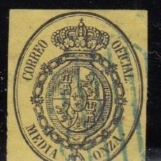 Sellos: ESPAÑA , 1855 EDIFIL Nº 35 , MATASELLOS PARRILLA AZUL , . Lote 113261471