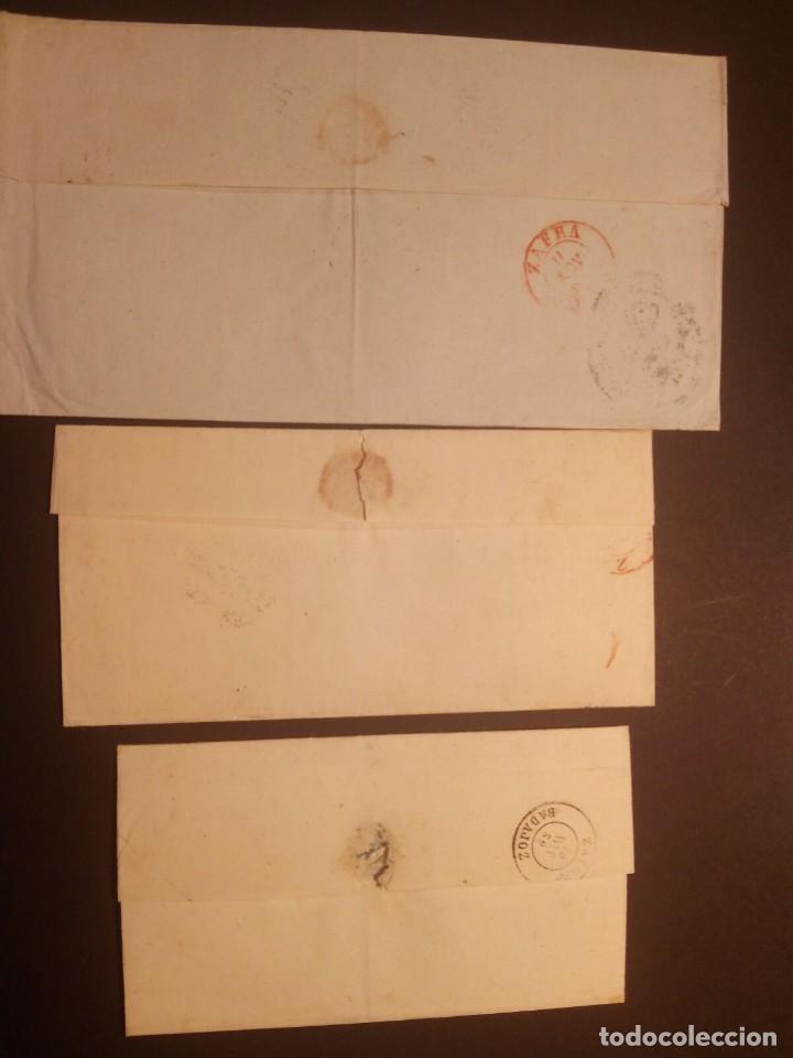 Sellos: BARCARROTA BADAJOZ - FECHADORES TIPO I - II - ENVUELTAS 1857/59 - 4 CUARTOS ROJO - TAL FOTOS - Foto 2 - 113279439