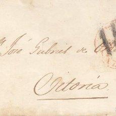 Sellos: CARTA: 1853 ZARAGOZA - VITORIA. Lote 114936783