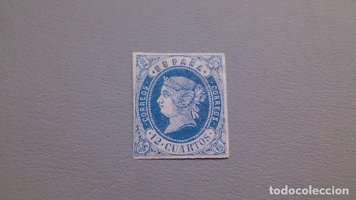 1862 - ISABEL II - EDIFIL 59 -MH* - NUEVO -MUY BONITO - COLOR VIVO Y CONSERVADO - CALCADO AL DORSO. (Sellos - España - Isabel II de 1.850 a 1.869 - Nuevos)